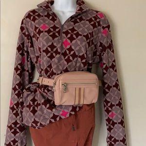 Woman's 1/4 zip diamond fleece jacket & pullover